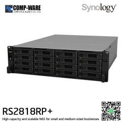 Synology RackStation (4U 16-Bay) RS2818RP+ (4GB RAM) Redundant Power Supply - Rail Kit (Not Included)