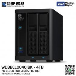WD 4TB My Cloud Pro Series PR2100 2-Bay Network Attached Storage - WDBBCL0040JBK-SESN