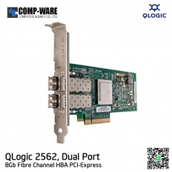 QLogic Dell QLE2562 Dual Port 8Gb Fibre Channel to PCI Express Host Bus Adapter