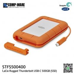 Seagate LaCie Rugged Thunderbolt USB-C 500GB SSD Portable Hard Drive STFS500400