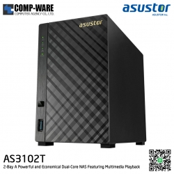 Asustor (2-Bay) AS3102T Intel Celeron 1.6GHz 2GB RAM Personal Cloud to Home NAS - 3 Years Warranty