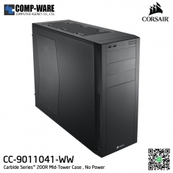 Corsair Carbide Series 200R Window Mid-tower chassis , No Power - CC-9011041-WW