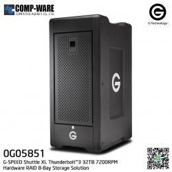 G-Technology G-SPEED Shuttle XL Thunderbolt™3 32TB 7200RPM Hardware RAID 8-Bay Storage Solution - 0G05851