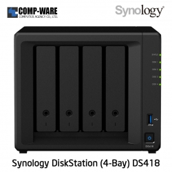 Synology DiskStation (4-Bay) DS418 (2GB RAM)