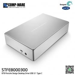 Seagate LaCie Porsche Design 8TB Desktop Drive USB3.1 Type-C (STFE8000300) - Silver
