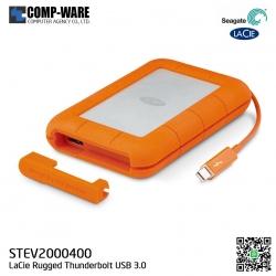 Seagate LaCie 2TB Rugged Thunderbolt and USB 3.0 Portable Hard Drive STEV2000400