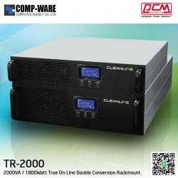"PCM Cleanline UPS T Series (Rackmount 19"") 2000VA / 1800Watt True On-Line Double Conversion TR-2000"