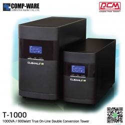 PCM Cleanline UPS T Series (Tower) 1000VA / 900Watt True On-Line Double Conversion T-1000 B2
