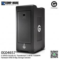 G-Technology G-SPEED Shuttle XL Thunderbolt™2 48TB 7200RPM Hardware RAID 8-Bay Storage Solution - 0G04657