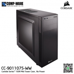 Corsair Carbide Series 100R Window Mid-tower chassis , No Power - CC-9011075-WW