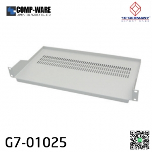"19"" Germany Rack Accessories G7-01025 FRONT PANEL FIX SHELF Deep 25 cm. for WALL RACK & OPEN RACK (ถาดยึดหน้า 2 ด้าน)"