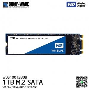 WD Blue 3D NAND 1TB M.2 2280 SSD SATA 6 Gb/s Solid State Drive - WDS100T2B0B