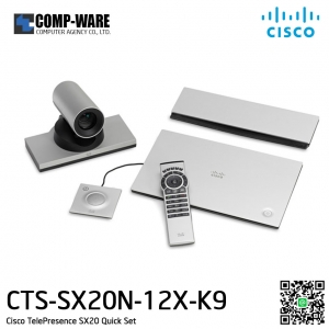 Cisco TelePresence SX20 w/ 12x Cam, 1 mic, remote and CE9 - Lead time extended CTS-SX20N-12X-K9