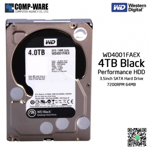 WD Black 4TB Performance Desktop Hard Disk Drive 7200RPM SATA 6Gb/s 64MB Cache 3.5Inch - WD4001FAEX