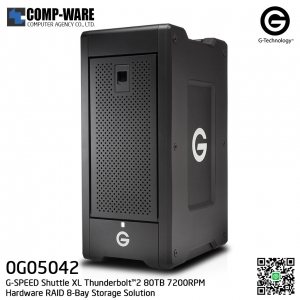 G-Technology G-SPEED Shuttle XL Thunderbolt™2 80TB 7200RPM Hardware RAID 8-Bay Storage Solution - 0G05042