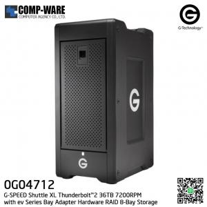 G-Technology G-SPEED Shuttle XL Thunderbolt™2 36TB 7200RPM with ev Series Bay Adapter Hardware RAID 8-Bay Storage Solution - 0G04712