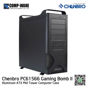 CHENBRO PC61566 Black Aluminum ATX Mid Tower Computer Case