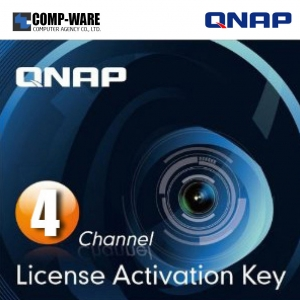 QNAP LIC-CAM-NAS-4CH 4 Camera License Activation Key for Surveillance Station Pro for QNAP NAS