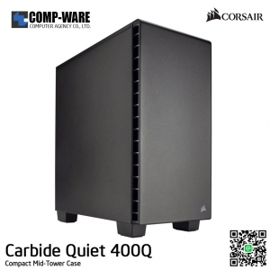Corsair Carbide Quiet 400Q Compact Mid-Tower Case , No Power