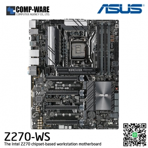 ASUS Z270-WS LGA1151 DDR4 Display Port HDMI 4-Way SLI CrossfireX M.2 U.2 ATX Motherboard with Dual Gigabit LAN and USB 3.1