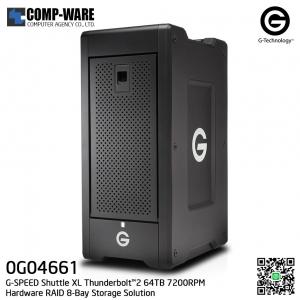 G-Technology G-SPEED Shuttle XL Thunderbolt™2 64TB 7200RPM Hardware RAID 8-Bay Storage Solution - 0G04661