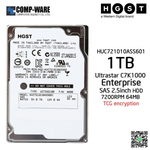HGST ULTRASTAR C7K1000 1TB 7200RPM Enterprise SAS 6Gb/s 2.5inch 64MB Cache TCG encryption HUC721010ASS601 - 0B30781