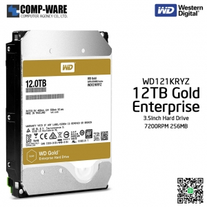 WD Gold 12TB Enterprise Class Hard Drive 7200RPM SATA 6Gb/s 256MB Cache 3.5Inch - WD121KRYZ