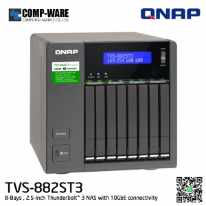 QNAP NAS (8-Bay) TVS-882ST3 Core i5 (8GB RAM) 2.5-inch Thunderbolt™ 3 NAS with 10GbE connectivity