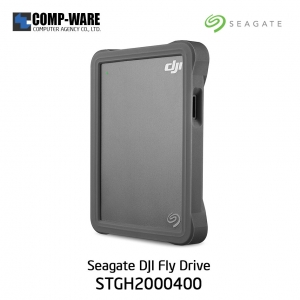 Seagate DJI Fly Drive for Drone Footage - Portable Drive with Micro SD Card Slot and USB-C to USB-C cable STGH2000400