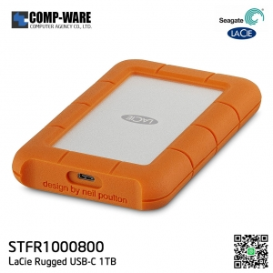 Seagate LaCie Rugged USB-C and USB 3.0 1TB Portable Hard Drive STFR1000800