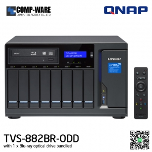 QNAP NAS (8-Bay) TVS-882BR Core i5 (16GB RAM) All-in-one Blu-ray NAS for disc backup, video playback, and file sharing