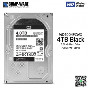 WD Black 4TB Performance Desktop Hard Disk Drive 7200RPM SATA 6Gb/s 128MB Cache 3.5 Inch - WD4004FZWX