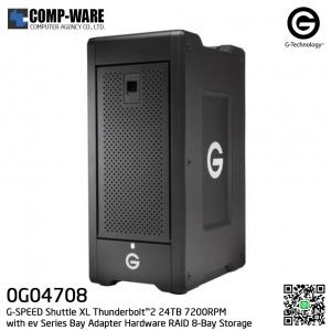 G-Technology G-SPEED Shuttle XL Thunderbolt™2 24TB 7200RPM with ev Series Bay Adapter Hardware RAID 8-Bay Storage Solution - 0G04708