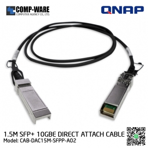 QNAP SFP+ 10GbE Twinaxial Direct Attach Cable 1.5M SFP+ Direct-Attach Cable CAB-DAC15M-SFPP-A02