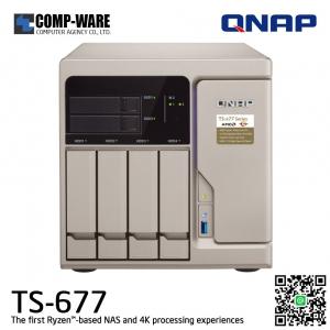 QNAP NAS 6-Bay (4+2) TS-677 (8GB DDR4 RAM) AMD Ryzen5 1600 6C/12T