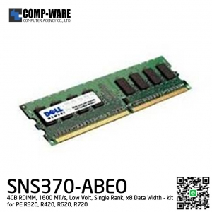 Dell Memory SNS370-ABEO 4GB RDIMM 1600 MT/s Low Volt Single Rank x8 Data Width RAM for Dell R320 / R420 / R620 / R720