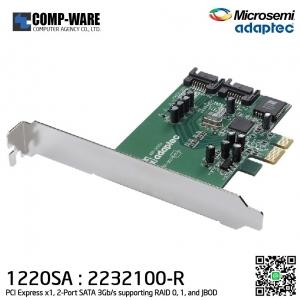 Microsemi Adaptec 2232100-R 1220SA PCI Express X1 2-Port SATA 3GBS Low-profile Host RAID Controller