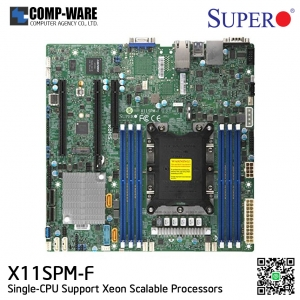 Supermicro X11SPM-F Intel C621 Chipset microATX Motherboard Single-CPU Scalable Processors LGA3647