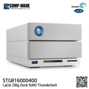 Seagate LaCie 2Big Dock RAID Thunderbolt 3 16TB 7200RPM External Hard Drive STGB16000400