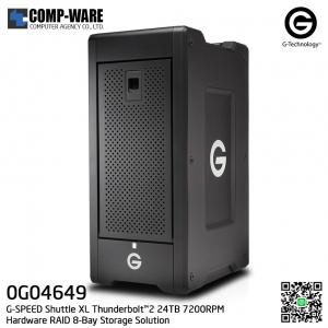 G-Technology G-SPEED Shuttle XL Thunderbolt™2 24TB 7200RPM Hardware RAID 8-Bay Storage Solution - 0G04649