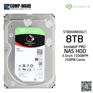 Seagate 8TB IronWolf Pro NAS SATA 6Gb/s 7200RPM 256MB Cache 3.5-Inch Internal Hard Drive ST8000NE0021