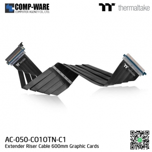 Thermaltake AC-050-CO1OTN-C1 TT Premium PCI-E x16 3.0 Extender Riser Cable 600mm Graphic Cards Black