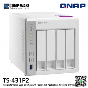 QNAP NAS (4-Bay) TS-431P2 (1GB RAM) High-performance Quad-core NAS with Feature-rich Applications for Home & Office