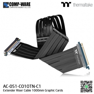 Thermaltake AC-051-CO1OTN-C1 TT Premium PCI-E x16 3.0 Extender Riser Cable 1000mm Graphic Cards Black