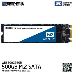 WD Blue 3D NAND 500GB M.2 2280 SSD SATA 6Gb/s Solid State Drive - WDS500G2B0B