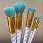 Abocos Unicorn white brush set ชุดแปรงแต่งหน้าขนแปรงสีฟ้าสวย thumbnail 3