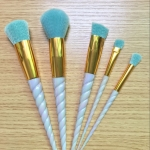 Abocos Unicorn white brush set ชุดแปรงแต่งหน้าขนแปรงสีฟ้าสวย