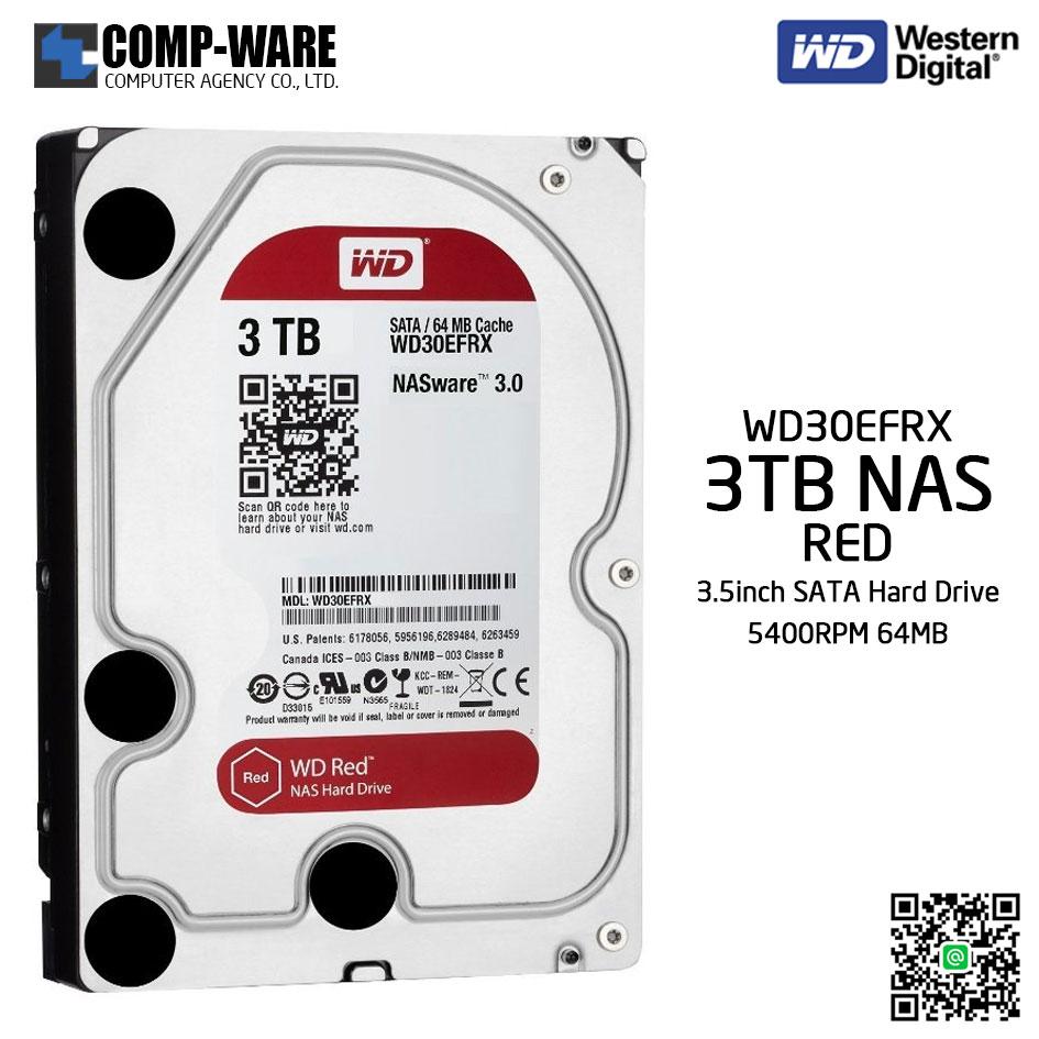 WD RED 3 TB NAS Hard Drive SATA 3.5 Inch